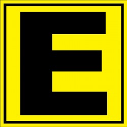 Panneau signalétique pour entrepôt lettre E