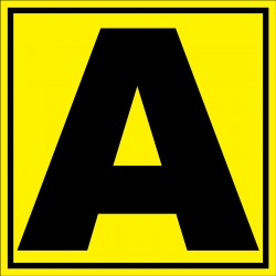 Panneau signalétique pour entrepôt lettre A