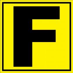 Panneau signalétique pour entrepôt lettre F