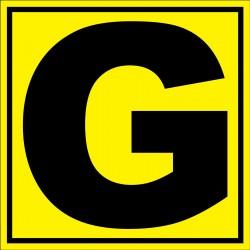 """Panneau signalétique pour entrepôt """"lettre G"""""""