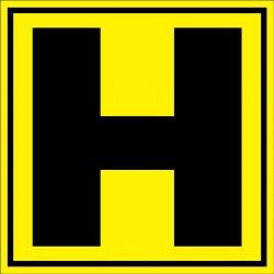 Panneau signalétique pour entrepôt lettre H