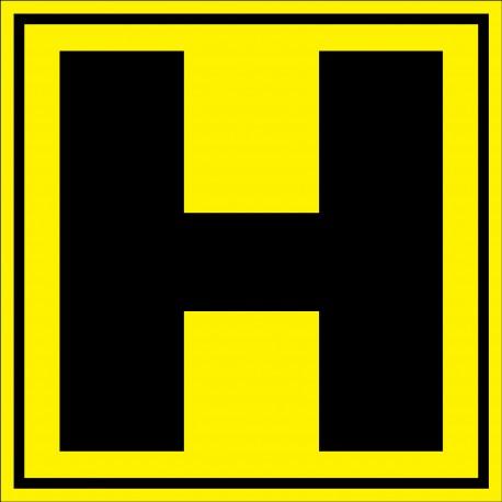 """Panneau signalétique pour entrepôt """"lettre H"""""""