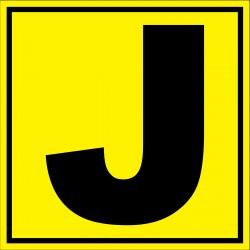 Panneau signalétique pour entrepôt lettre J