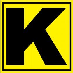 """Panneau signalétique pour entrepôt """"lettre K"""""""