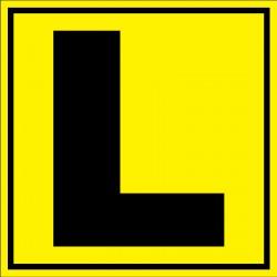 Panneau signalétique pour entrepôt lettre L