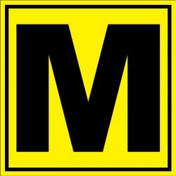 Panneau signalétique pour entrepôt lettre M