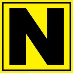 Panneau signalétique pour entrepôt lettre N