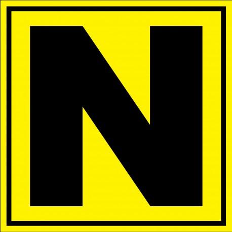 """Panneau signalétique pour entrepôt """"lettre N"""""""