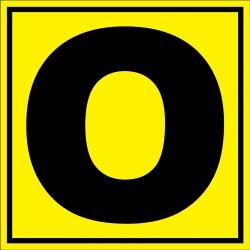 Panneau signalétique pour entrepôt lettre O