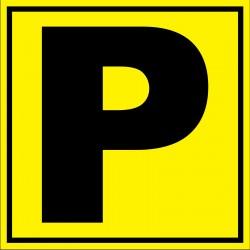 Panneau signalétique pour entrepôt lettre P