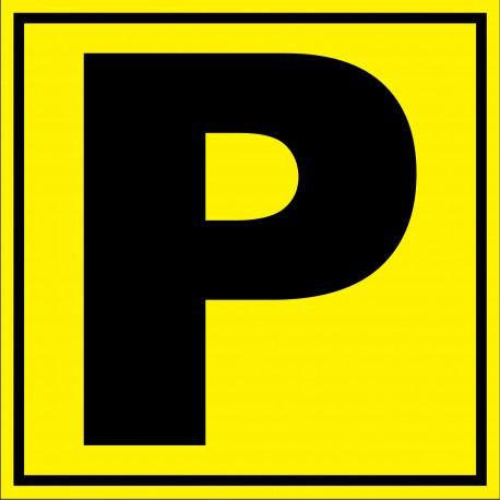 """Panneau signalétique pour entrepôt """"lettre P"""""""