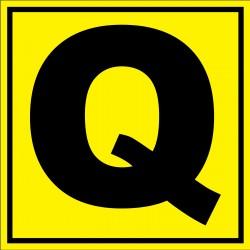 Panneau signalétique pour entrepôt lettre Q