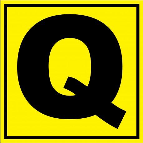 """Panneau signalétique pour entrepôt """"lettre Q"""""""