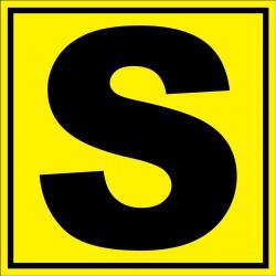 Panneau signalétique pour entrepôt lettre S
