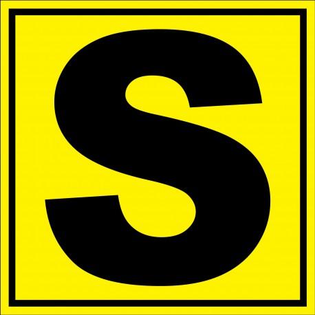 """Panneau signalétique pour entrepôt """"lettre S"""""""