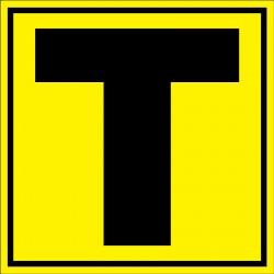 """Panneau signalétique pour entrepôt """"lettre T"""""""