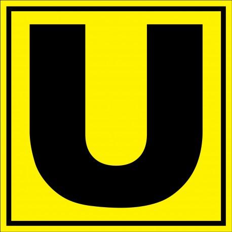 """Panneau signalétique pour entrepôt """"lettre U"""""""
