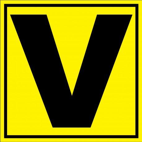 """Panneau signalétique pour entrepôt """"lettre V"""""""