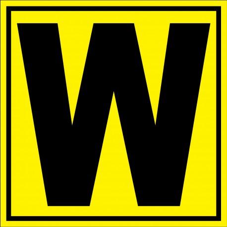 """Panneau signalétique pour entrepôt """"lettre W"""""""