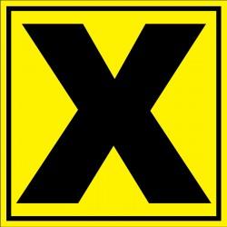 """Panneau signalétique pour entrepôt """"lettre X"""""""