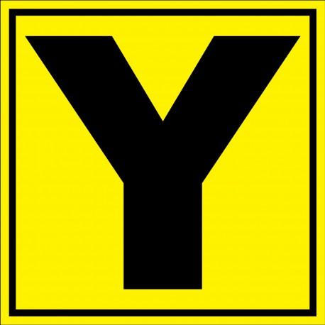"""Panneau signalétique pour entrepôt """"lettre Y"""""""