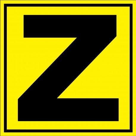 """Panneau signalétique pour entrepôt """"lettre Z"""""""