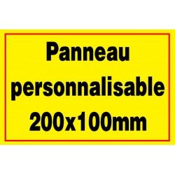 Panneau personnalisé en PVC 200x100mm