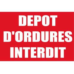 Dêpot d'ordures interdit