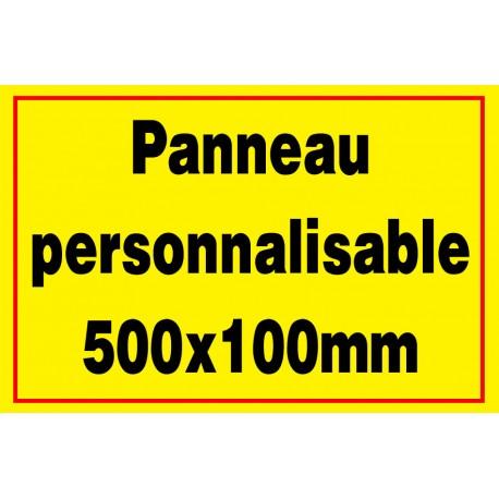 Panneau personnalisé en PVC 400x100mm