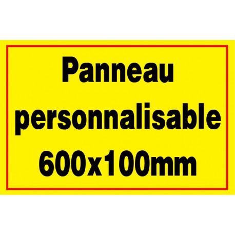 Panneau personnalisé en PVC 500x100mm