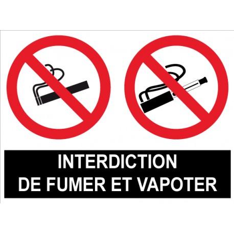 Interdit de fumer et vapoter