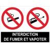 Interdit de fumer et vapoter (lot de 2p)