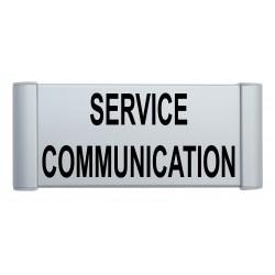Plaque de porte aluminium service communication
