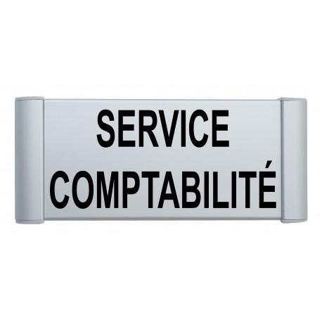Plaque de porte aluminium service comptabilité