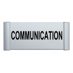 Plaque de porte aluminium communication