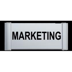Plaque de porte aluminium marketing