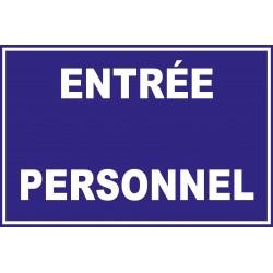 Entrée personnel