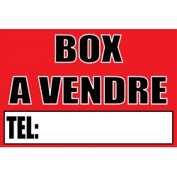 Box a vendre
