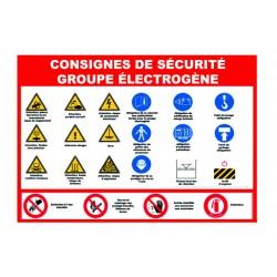 Consignes de sécurité pour groupe électrogène