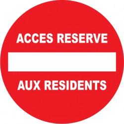 Accès réservé aux résidents