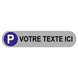 Plaque de parking personnalisé