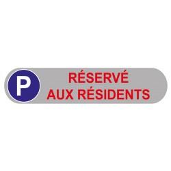 Plaque de parking réservé aux résidents