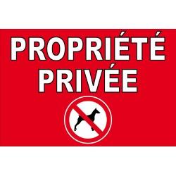 Propriété privée chien interdit