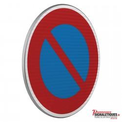 Panneau routier entrée d'une zone à stationnement interdit B6A1