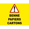 Benne pour papiers et cartons