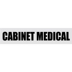 Plaque de porte cabinet médical