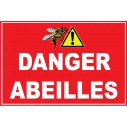 Danger abeilles avec pictogramme