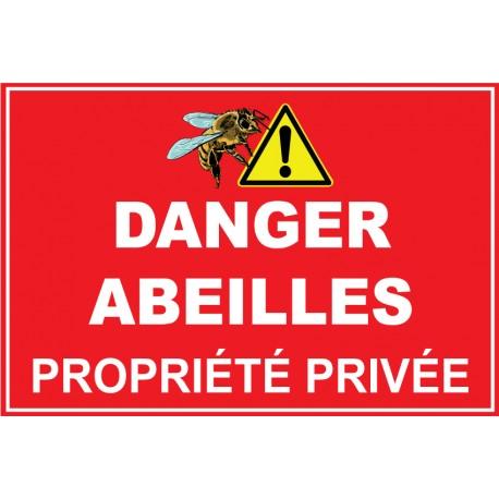 Danger abeilles avec picto