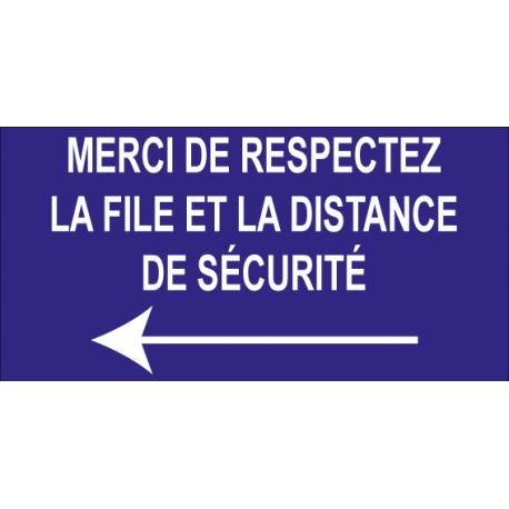 Merci de respectez la file et la distance de sécurité