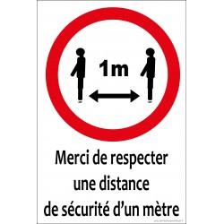 Merci de respecter une distance de sécurité